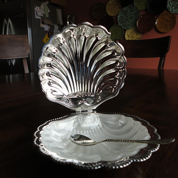 Caviar Dish from England - Flea Market Find - $10! - Sterling Silver