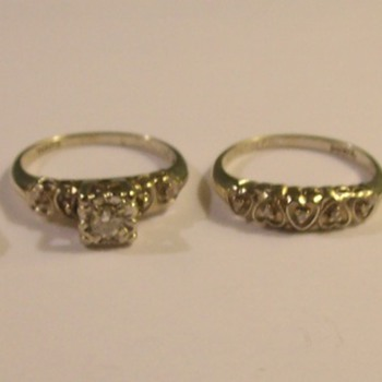 Various Vintage 14k White, Yellow, &amp; Two Toned Gold Wedding/Engagement Sets
