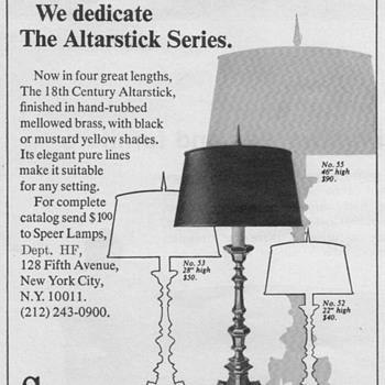 1968 - Speer Lamps Advertisement - Advertising