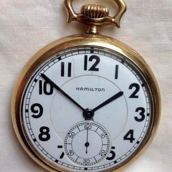1926 Hamilton 992L Railroad Approved Pocket Watch