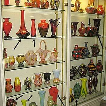 Interesting Passau, Germany Art Deco Czech Displays: 6 Cabinets - Art Glass