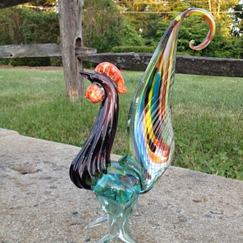 ? Vintage Murano Glass Rooster - HELP - Art Glass