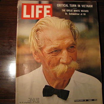 Dr Schweitzer at 90 - 1964 Life Magazine