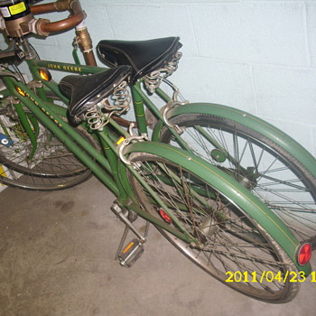 John Deere green bikes