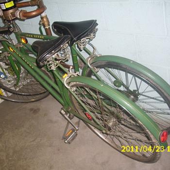 John Deere green bikes