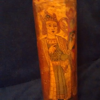 please help me identify this old painted bottle