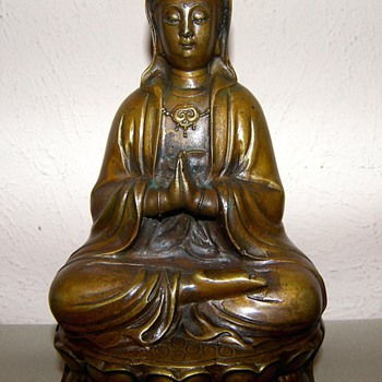 Bronze Seated Quan Yin - Asian
