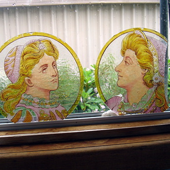 angels faces - Art Glass