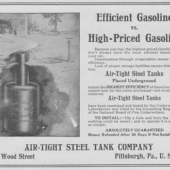 1909 Air-Tight Steel Tank Advertisement - Advertising