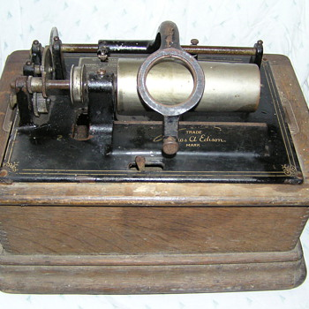 Edison model D standard phonograph. restoration - Records