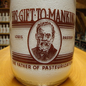 Louis Pasteur design 1/2 gallon milk bottle....