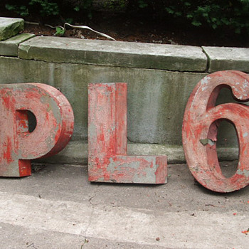 Original Phillips 66 Letters/Sign - Signs