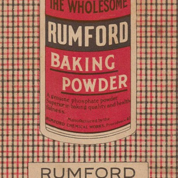 1922 - Rumford Baking Powder Advertisement - Advertising