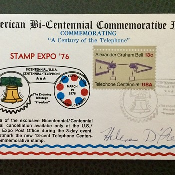 BiCentennial Commemorative Issue Stamp Cover with Blooper!
