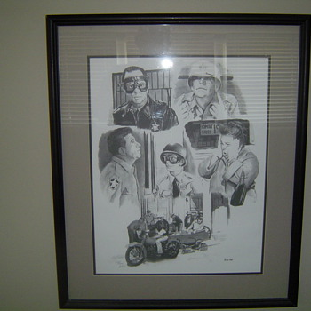 Mayberry Andy Griffith Memorbilia Limited Edition Framed Print - Movies
