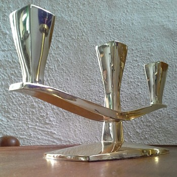 three armed sterling candelabra