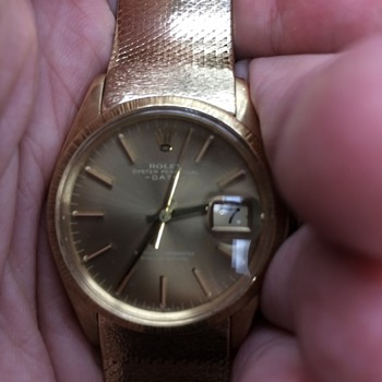 Rolex Oyster perpetual ,Date Just solid 14 Kt gold 97 grams has band I can't find?