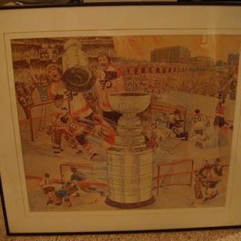 "Vintage  ""Philadelphia Flyers""  Stanley Cup Print"
