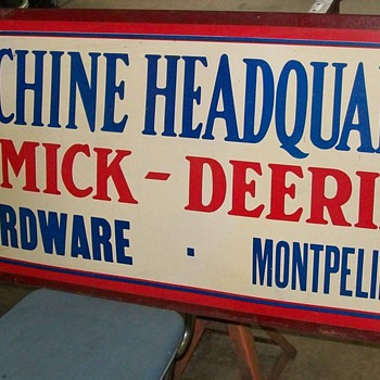 McCormick -Deering sign - Signs