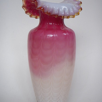 Fancy & Beautiful Ruffle Collared Vase~ - Art Glass