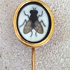 Pietra dura fly stickpin.