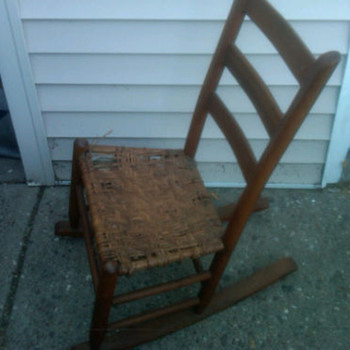child size antique chair