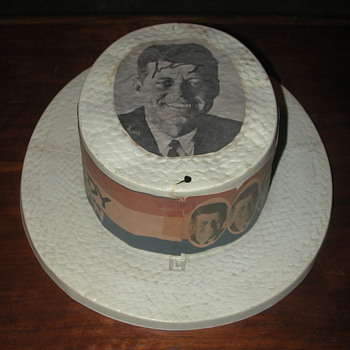 J.F.K. CAMPAIGN HAT AUTOGRAPH  1960  - Advertising