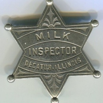 Milk Inspector Badge