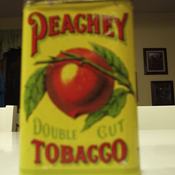 Peachey Double Cut Tobacco Tin - Early 1900's