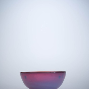 Small Red Cenedese Bowl - Art Glass