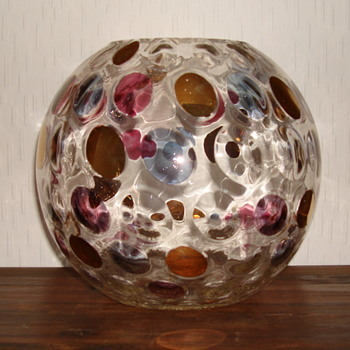 Czech glass Borske Sklo vase