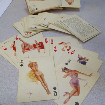 Vintage 'Vantities' playing cards by Alberto Vargas