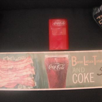 Coke Note Pad & Coke Menu Sign
