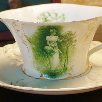 Rosenthal RC Sevres Printemps Germany Cup And Saucer 1890s