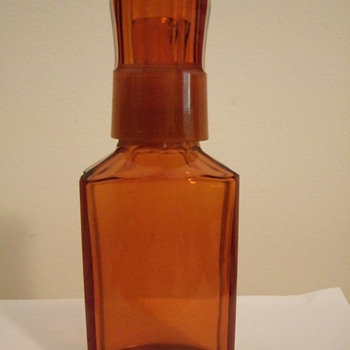 old amber bottle - Bottles