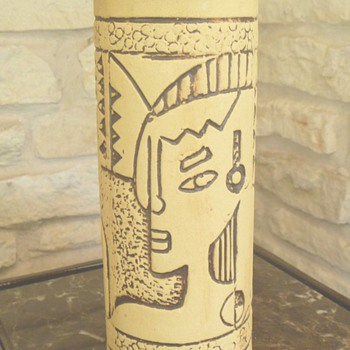Mid Century Pottery Abstract Mystery Vase - Art Pottery