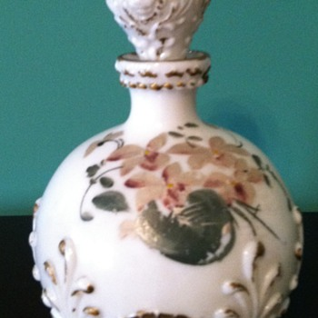 Victorian Milk Glass Vanity Items - Glassware
