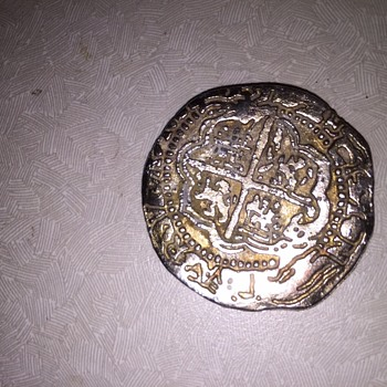 Spanish coin found metal detecting on the Gulf Coast a few weeks ago.