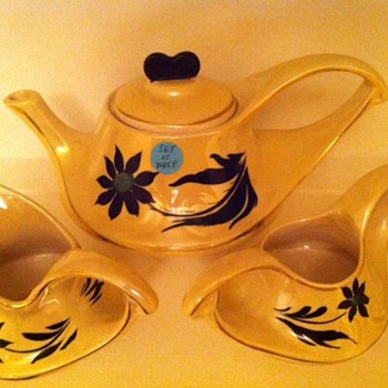 Vintage Yellow Tea Set - China and Dinnerware