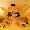 Vintage Yellow Tea Set