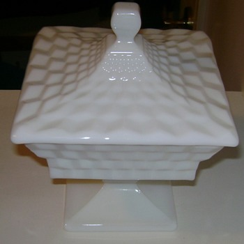 Fostoria American Pattern Milk Glass