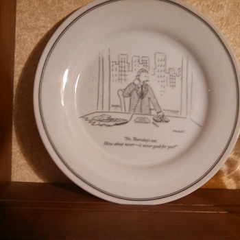 New Yorker Bob Mankoff Cartoon Plate - China and Dinnerware