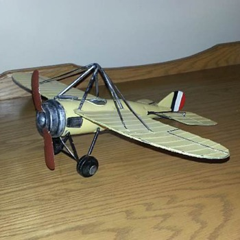 morane/saulnier type n steel miniature - Advertising