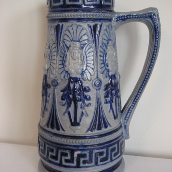Blue Salt Glazed Jug