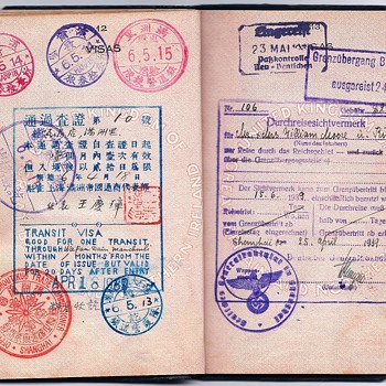 German visa from Shanghai inside a British passport - Paper