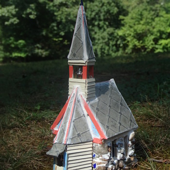 Folk Art Stone & Wood Church- A New Twist on the Country Churches of the 1800s