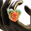 Vintage Hattie Carnegie Bright Colored Ram Ring