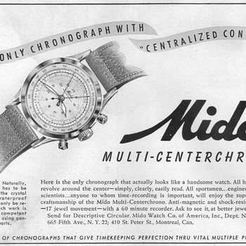 1948 - Mido WristWatch Advertisement - Advertising