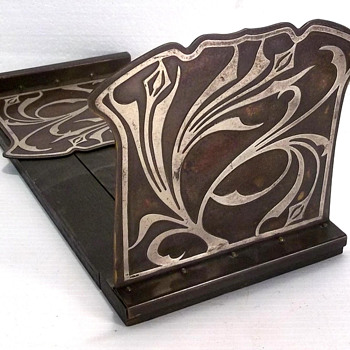 Heintz Art Nouveau Expandable Book Rack  c. 1910