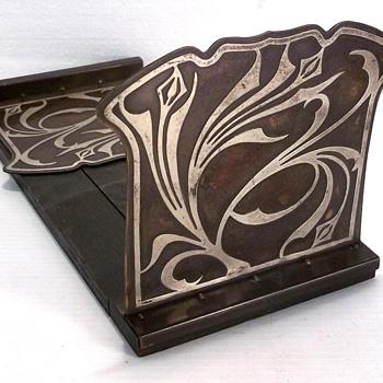 Heintz Art Nouveau Expandable Book Rack  c. 1910 - Books